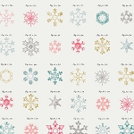 Little Town LTO-8235 Snow Crystals Jolly by Amy Sinibaldi for Art Gallery