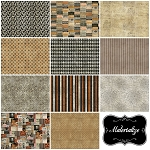 Materialize 11 Fat Quarter Set by Tim Holtz for Coats