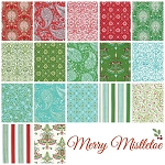 Merry Mistletoe 17 Fat Quarter Set by Free Spirit