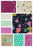 Mochi 9 Fat Quarter Set by Rashida Coleman-Hale for Cotton + Steel