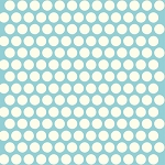 Mod Basics Organic MB-01 Cream on Pool Dottie by Birch Fabrics
