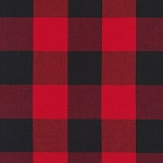 Two Inch Carolina Gingham Yarn Dyed 16725-93 Scarlet Plaid by Kaufman