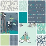 Pandalicious 10 Fat Quarter Set in Tian Tian Breeze by Art Gallery