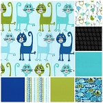 Pets A'Plenty 8 Fat Quarter Set by Michael Miller