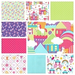 Princess Charming 9 Fat Quarter Set by Michael Miller