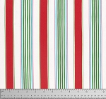Merry Mistletoe PWDF235 Red Linen Stripe by Free Spirit