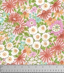 Meadow PWDF239 Coral Morning Glory Floral by Free Spirit