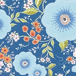 Isabelle PWDF246 Blue Fleurette by Dena Designs for Free Spirit