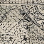 Dapper PWTH056-8 Black Street Maps by Tim Holtz for Coats