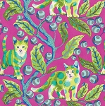 Tabby Road PWTP092 Berry Bird Disco Kitty by Tula Pink