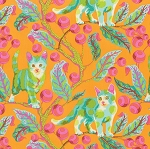 Tabby Road PWTP092 Marmalade Disco Kitty by Tula Pink