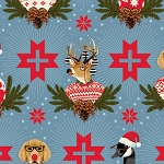 Holiday Homies PWTP104 Blue Spruce Buck, Buck, Goose by Free Spirit EOB