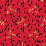 Holiday Homies PWTP106 Holly Berry Bambi Life by Free Spirit