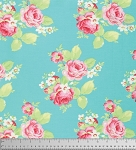 Lola PWTW104 Blue Lola Roses by Tanya Whelan for Free Spirit