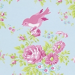 Zoey's Garden PWTW116 Blue Birds by Tanya Whelan for Free Spirit