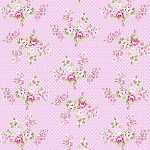 Charlotte PWTW147 Pink Spring Bouquet by Tanya Whelan for Free Spirit