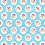 Charlotte PWTW149 Blue Dotted Rose by Tanya Whelan for Free Spirit