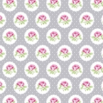 Charlotte PWTW149 Gray Dotted Rose by Tanya Whelan for Free Spirit