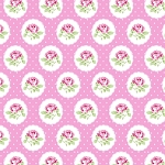 Charlotte PWTW149 Pink Dotted Rose by Tanya Whelan for Free Spirit