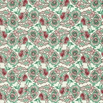 Peppermint Rose PWVM180 Dove Paisley Path by Free Spirit