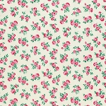 Peppermint Rose PWVM182 Dove Rosettes by Free Spirit