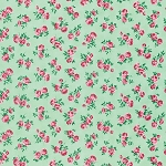Peppermint Rose PWVM182 Pine Rosettes by Free Spirit