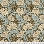 Merton PWWM009 Aqua Chrysanthemum by Morris & Co for Free Spirit
