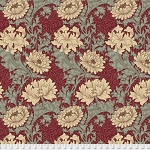 Merton PWWM009 Red Chrysanthemum by Morris & Co for Free Spirit