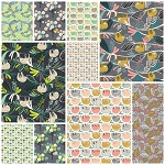 Rainforest Slumber 10 Fat Quarter Set by Katy Tanis for Blend