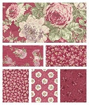 RURU Bouquet 6 Fat Quarter Set in Rose by Quilt Gate