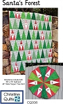 Santa's Forest Quilt Pattern by Christine Quilts