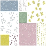 Stella 9 Fat Quarter Set by Lotta Jansdotter for Windham