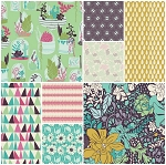 Succulence 8 Fat Quarter Set by Bonnie Christine for Art Gallery