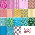 Sugar Beach 18 Fat Quarter Set by Jennifer Paganelli for Free Spirit