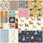 Wildland Organic 10 Fat Quarter Set by Miriam Bos for Birch