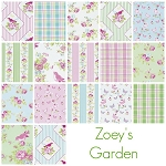 Zoey's Garden 17 Fat Quarter Set by Tanya Whelan for Free Spirit