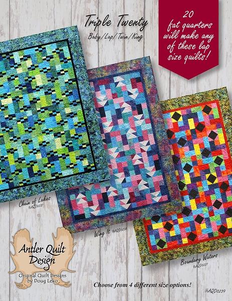 Triple Twenty Quilt Pattern - Antler Quilt Design : antler quilt design - Adamdwight.com