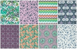 Violette 8 Fat Quarter Set in Flourish by Amy Butler for Free Spirit