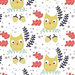 Hilltop WG447 White Owls by Wee Gallery for Dear Stella