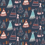 Wildland Organic MI-06 Dusk Teepees by Miriam Bos for Birch