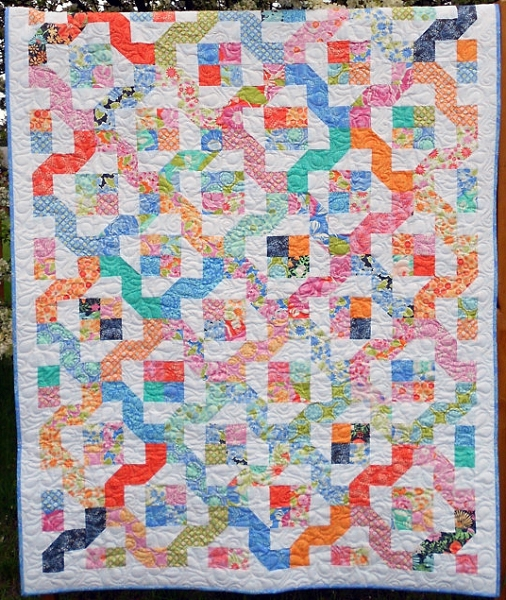 Little Louise Designs Quilt Pattern Winding Nine Patch
