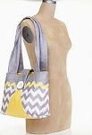 Zig Zag Bag Kit in Gray by Riley Blake