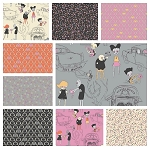 Zombie Love 9 Fat Quarter Set by Emily Taylor for Riley Blake