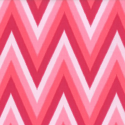 Color Me Happy 10828-12 Pink Ikat Chevron by Moda EOB
