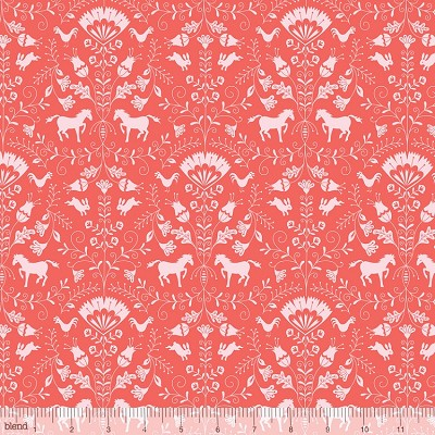 Hill and Dale 113.113.02.1 Coral Thistle by Ana Davis for Blend