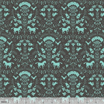Hill and Dale 113.113.02.2 Grey Thistle by Ana Davis for Blend