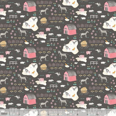 Hill and Dale 113.113.05.1 Grey Tiny Farm by Ana Davis for Blend