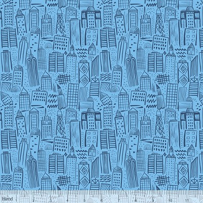 Monsters vs. Robots 125.103.03.2 Light Blue Metropolis by Blend