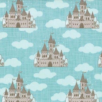 Storybook 13111-17 Aqua Castles by Kate & Birdie for Moda