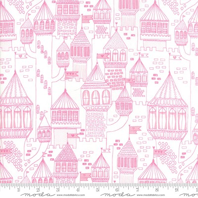 Once Upon a Time 20595-11 White Peony Castle on the Hill by Moda